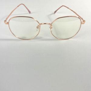 Rose Gold Fashion Round Frame Eyeglasses